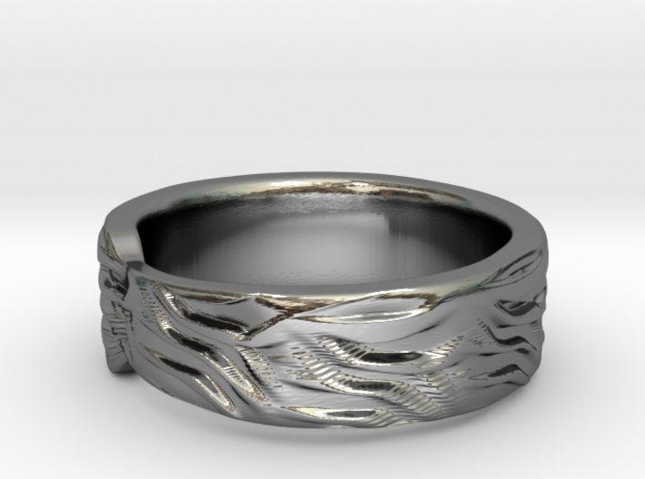 Tiger Textured & Tapered Ring 3d printed Tiger Textured & Tapered Ring