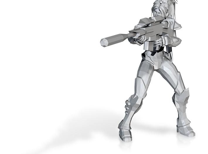 32mm Sci Fi sniper girl 3d printed
