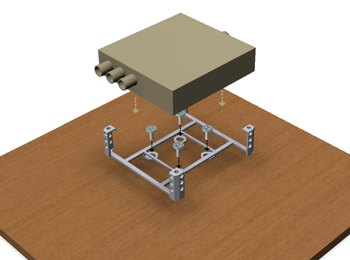 Blackmagic-Design Mini Converter Mounting Bracket 3d printed Mount to any solid surface.