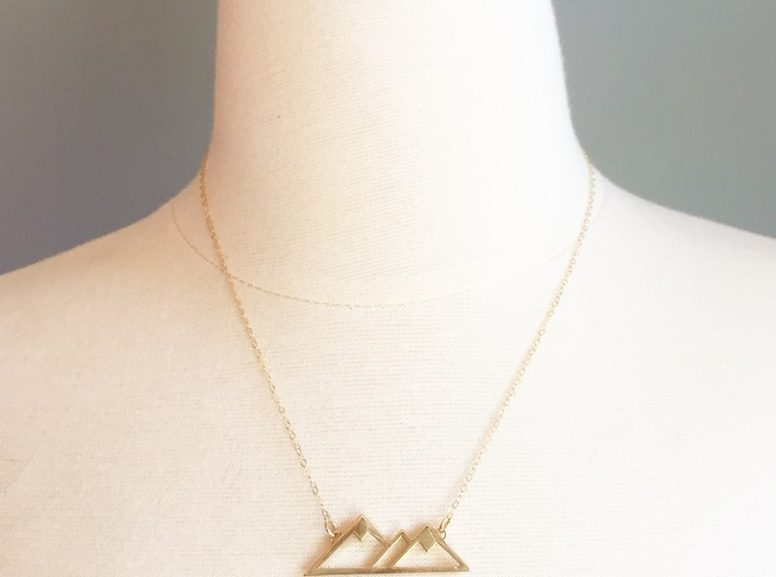 Mountain Love Pendant 3d printed