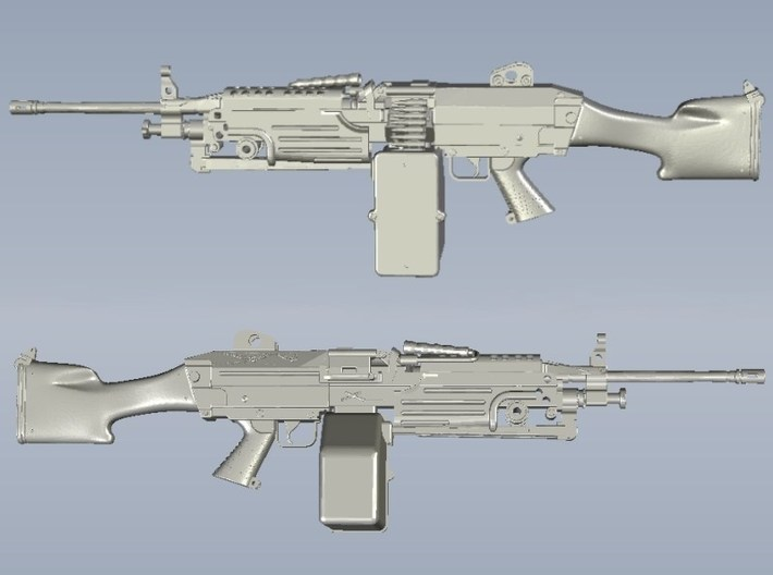 1/15 scale FN Fabrique Nationale M-249 Minimi x 1 3d printed