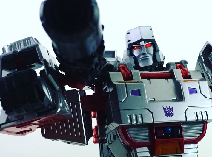 TR Faceplate & Helm for CW Megatron (G1) 3d printed
