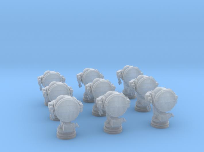 1/200 DKM 160cm Searchlight Set x9 3d printed