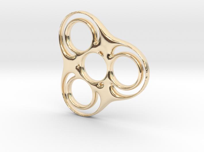 Trefoil Circle Spinner 3d printed
