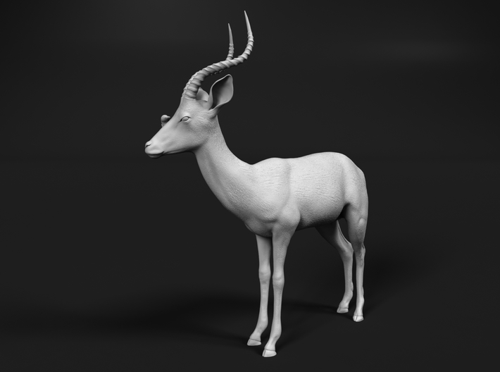 Impala 1:87 Male with Red-Billed Oxpecker 3d printed