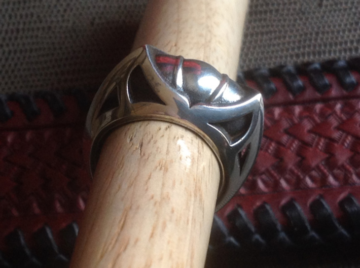 Mountain Lion Ring - Size 9 1/2 (19.35 mm) 3d printed Shown with Liver of Sulfur Patina