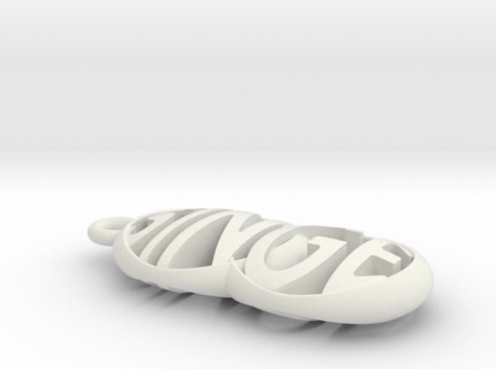 SINGE keychain 3d printed
