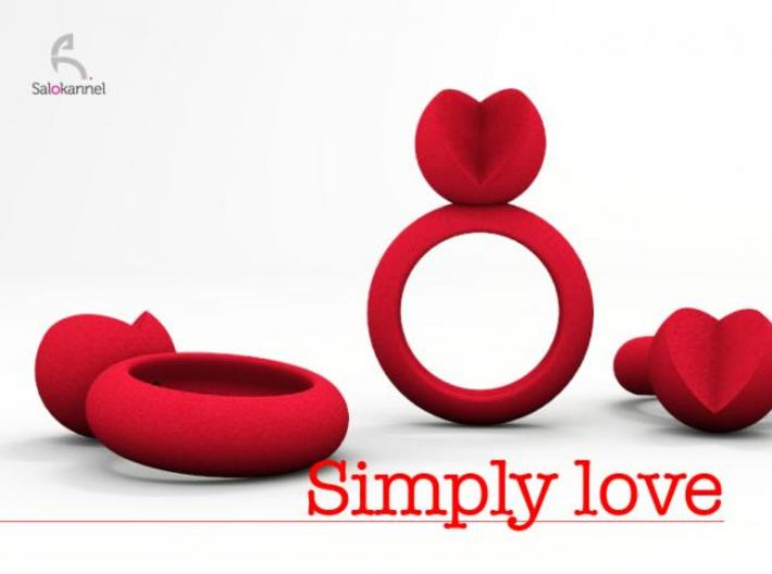 SIMPLY LOVE - size 7 3d printed Description