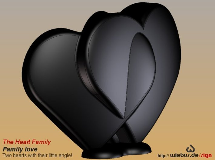 Heart Family - Family love! (small size) 3d printed