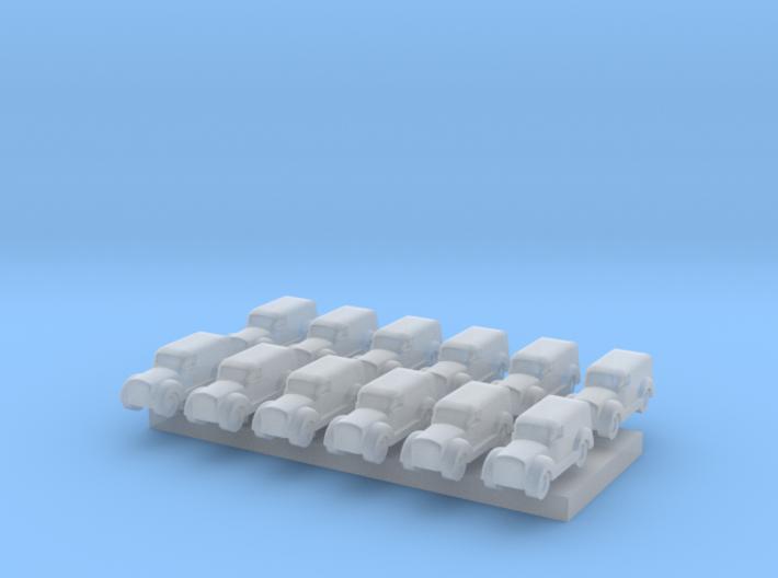 Car type A - T Scale 1:450 12 pcs set 3d printed