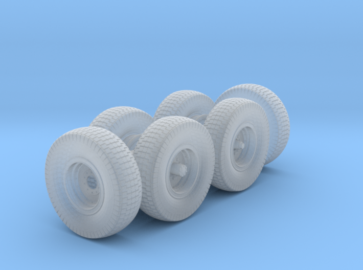 1/48th Chevy LRDG Sand Tyres 3d printed