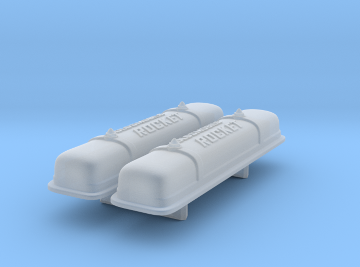 1/25 Oldsmobile Valve Covers (with script) 3d printed