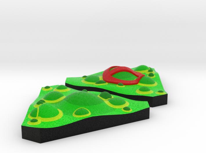 Slime tokens - Full Colour (2pcs) 3d printed