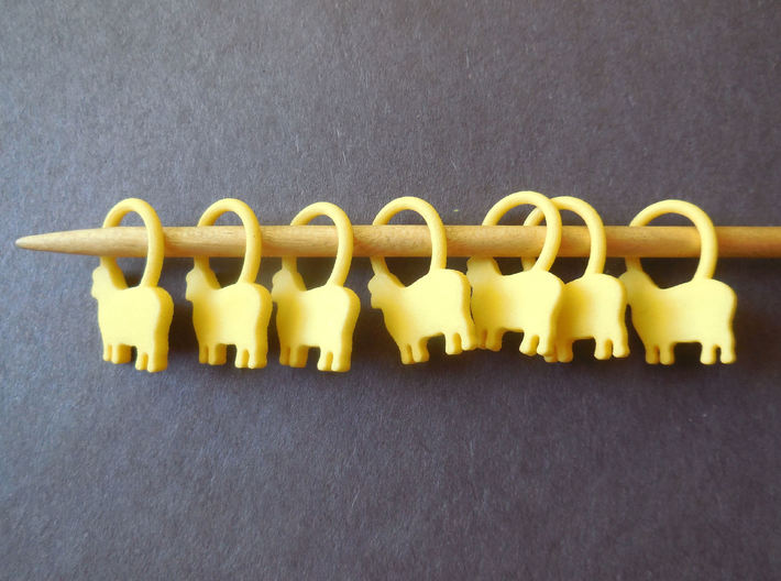 Baa-a-a Knitting Stitch Markers 3d printed