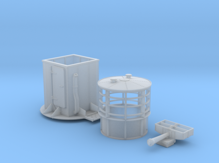 1/72 Flowers Class RDF Lantern and Office 1942 3d printed 1/72 Flowers Class RDF Lantern and Office 1942
