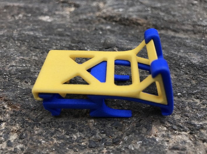 The Roo smartphone stand & cord wrap (base) 3d printed compact, fits in your pocket