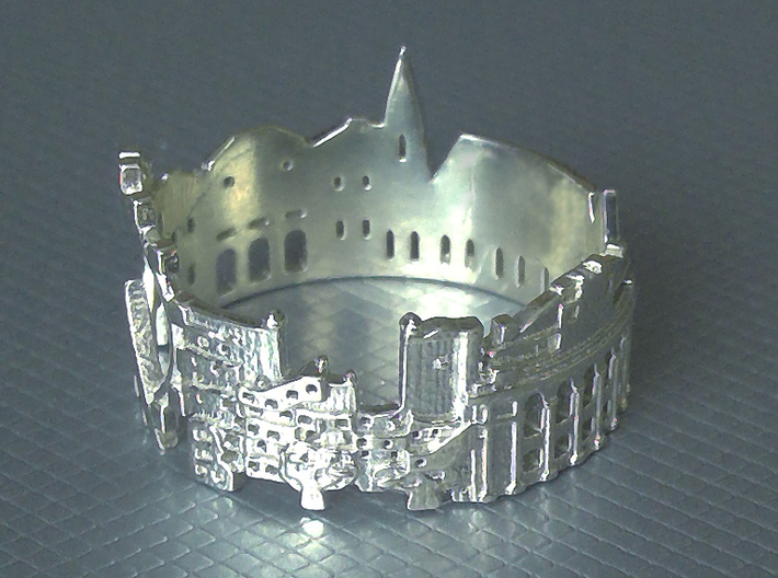 Vienna Skyline - Cityscape Ring 3d printed