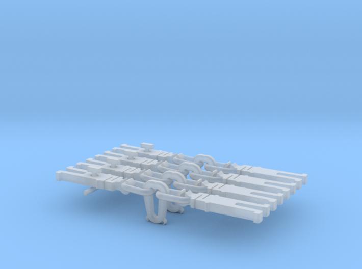 NEM OO Type 32 Couplings - Strait Instanter x4 3d printed