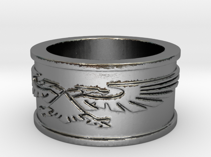 Crest Ring Size 7 3d printed