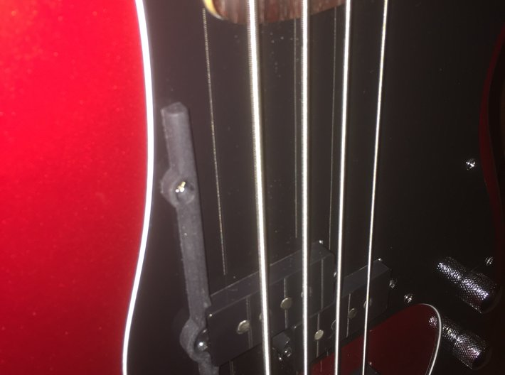 ThumbRail -fits Fender Precision 3d printed ThumbRail on a Squier Vintage Modified Precision Bass P/J
