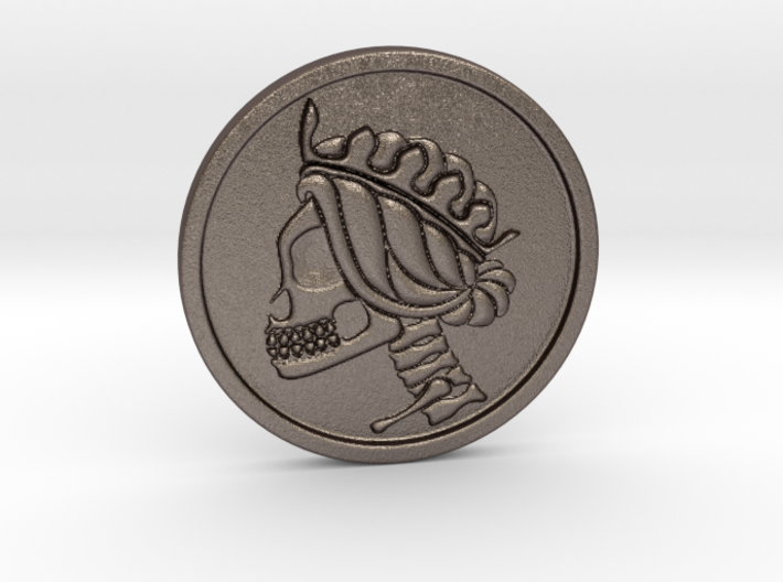 Liberty Skull Worry Skill/Challenge coin 3d printed