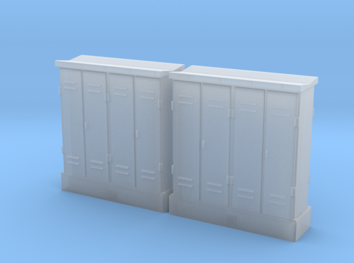HO 2 Relay Cabinets 4-Door 3d printed