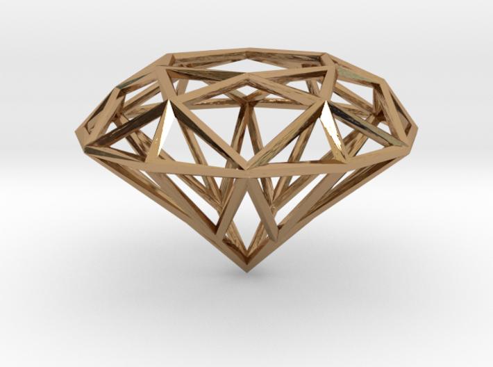Diamond pendant 3d printed
