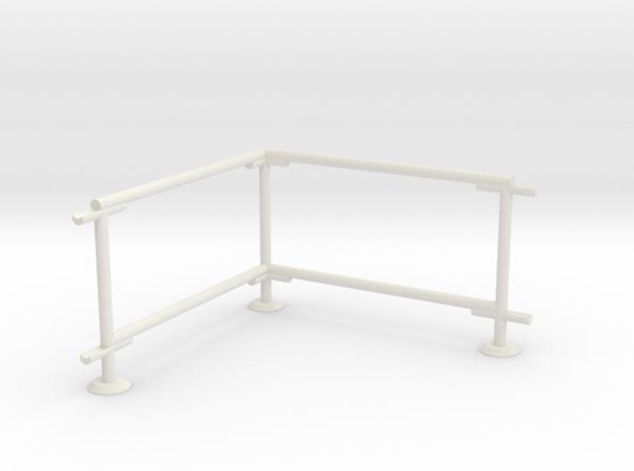 6' Chain-link Barrier Fence 90 deg. Corner (HO) 3d printed Part # CLBF-004