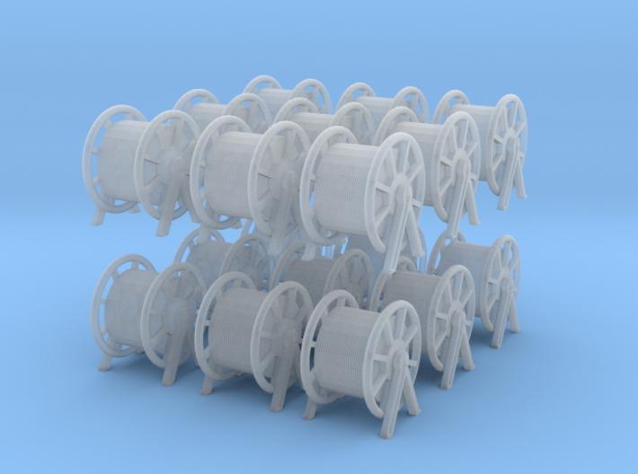 1/200 DKM Rope Barrel Big Set x18 3d printed