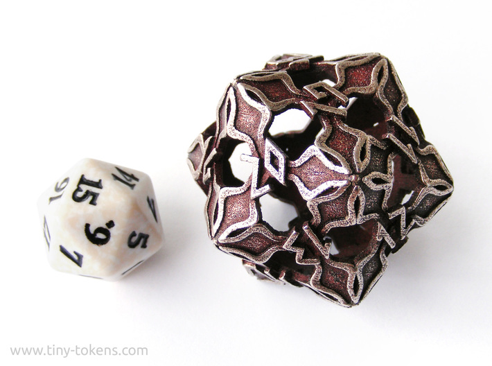 Amonkhet Spindown D20 Life Counter Die 3d printed Size comparison with a regular spindown d20