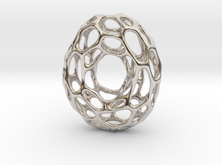 Cyclone-in-motion Necklace Pendant 3d printed