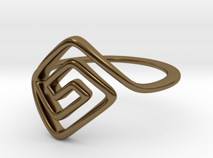 Square Spiral Ring 3d printed