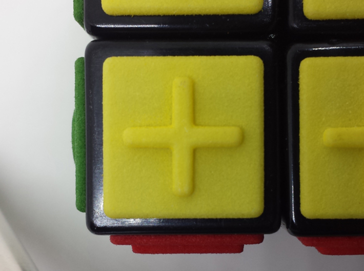 Yellow replacement tile (Rubik's Blind Cube) 3d printed Yellow tile close-up