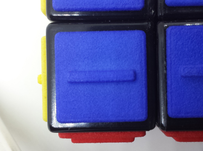Blue replacement tile (Rubik's Blind Cube) 3d printed Blue tile close-up