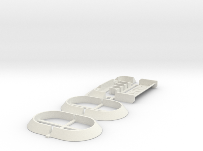 Spoiler & arches kit (universal wide body conversi 3d printed