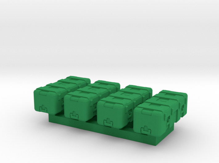 1/87 Scale Heavy Equipment Case x4 3d printed