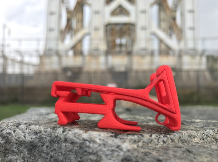 The Roo smartphone stand & cord wrap (base) 3d printed