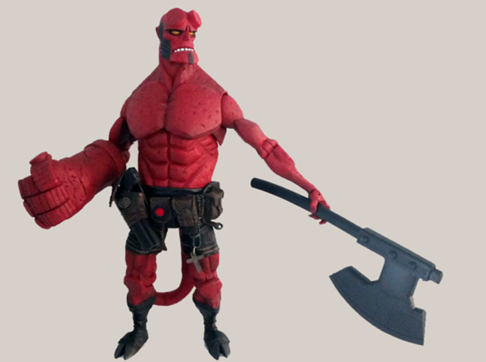 """Hell Axe for 6"""" figures 3d printed"""