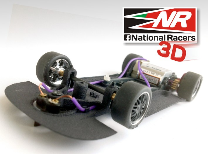 3D Chassis - NINCO Ford GT (AW/SW) 3d printed