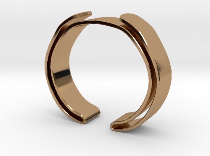 Double Fold Cuff 3d printed
