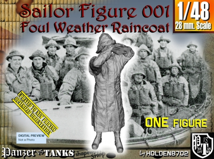 1/48 Foul Weather Sailor Fig001 3d printed