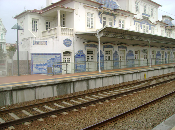 Aveiro Train Station - N Scale  3d printed Real Station