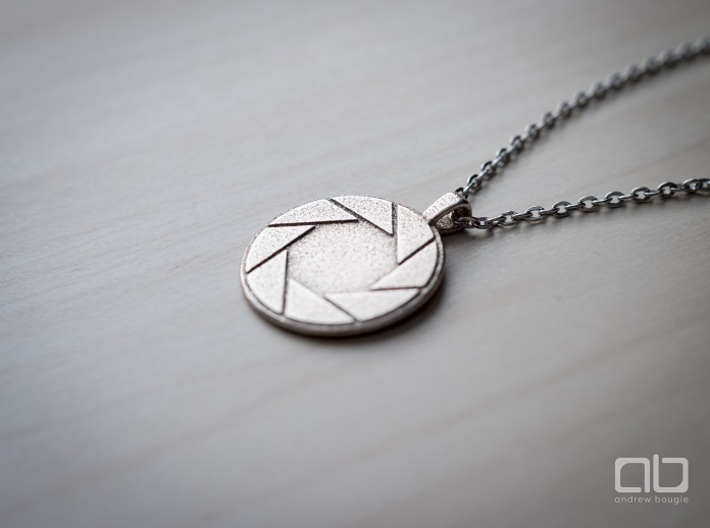 Aperture Science Laboratories Pendant - Portal 3d printed Stainless Steel - Chain not include