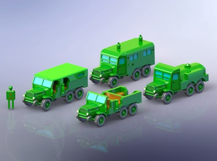 French Laffly S20 Truck Variants 1/144 3d printed