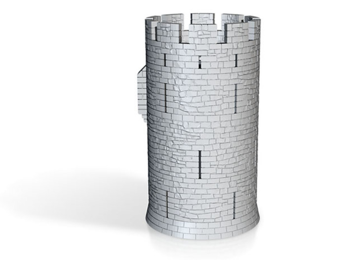 HOF011 - Castle round tower 3d printed