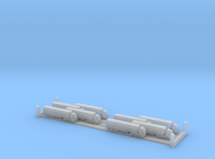 Refrigerated Lorries (1:1250) x8  3d printed