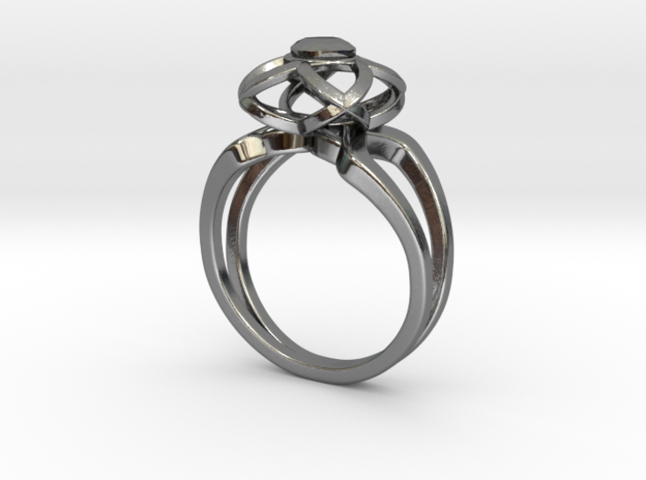 3-2 Enneper Curve Twin Ring (003) 3d printed 3-2 Enneper Curve Twin Ring (003)