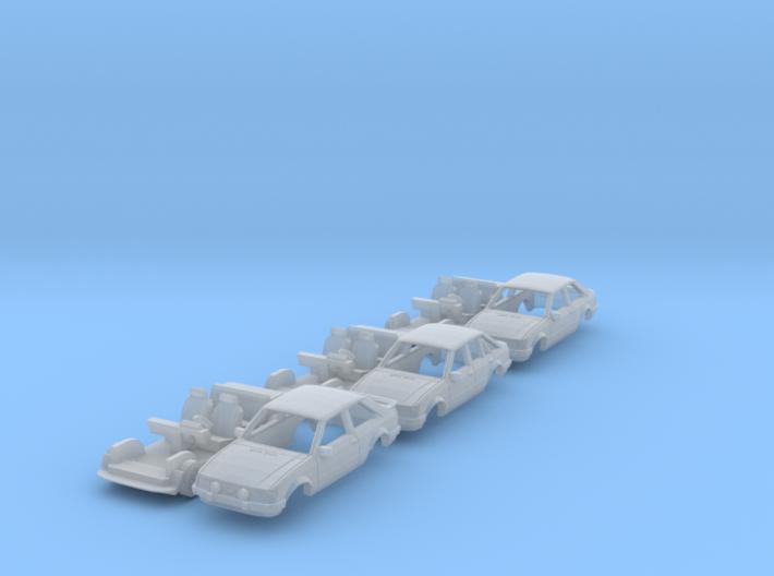 SET 3x Ford Escort Mk3 (TT 1:120) 3d printed