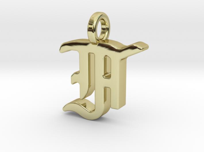 F - Pendant - 2mm thk. 3d printed