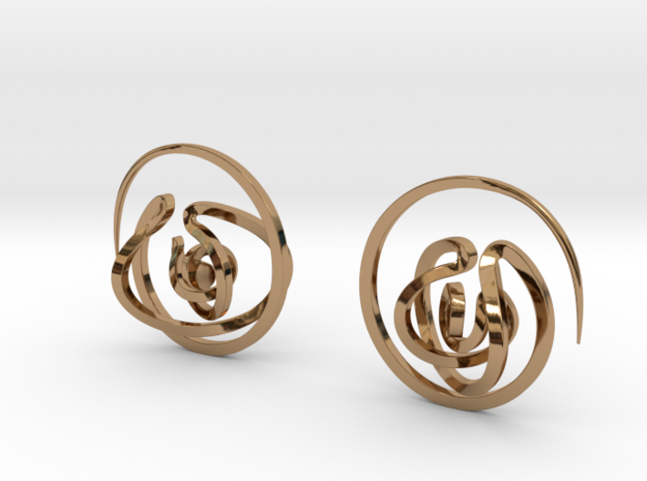 Stay lost   Be found - Earrings 3d printed
